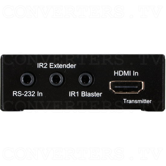 HDMI over CAT5e/6/7 Transmitter with bidirectional PoC - Front View.png