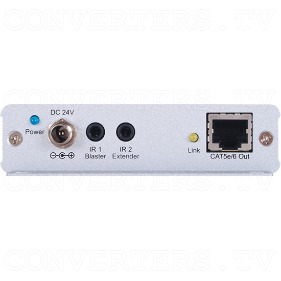 HDMI over CAT5e/6/7 Transmitter with Bi-directional PoC (mountable) - HDMI over CAT5e/6/7 Transmitter with Bi-directional PoC - Back View.png
