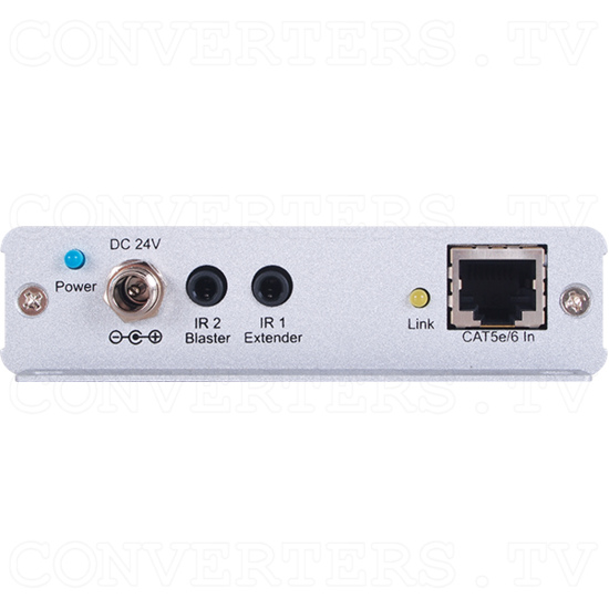 HDMI over CAT5e/6/7 Receiver with Bi-directional PoC (mountable) - HDMI over CAT5e/6/7 Receiver with Bi-directional PoC - Back View.png