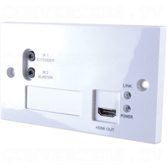 4K2K and 3D over CAT5e/6/7 Wall-plate Receiver with 24V PoC - 4K2K and 3D over CAT5e/6/7 Wall-plate Receiver with 24V PoC - Full View.png