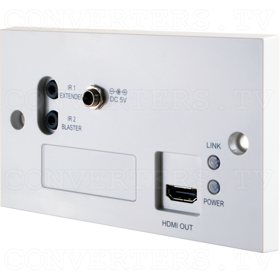 HDMI 4K 3D over CAT5e/6/7 Wall-plate Receiver - HDMI 4K 3D over CAT5e/6/7 Wall-plate Receiver - Full View.png