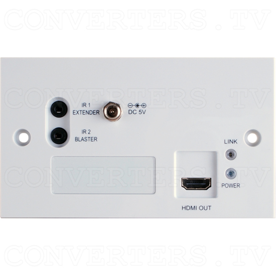 HDMI 4K 3D over CAT5e/6/7 Wall-plate Receiver - HDMI 4K 3D over CAT5e/6/7 Wall-plate Receiver - Front View.png