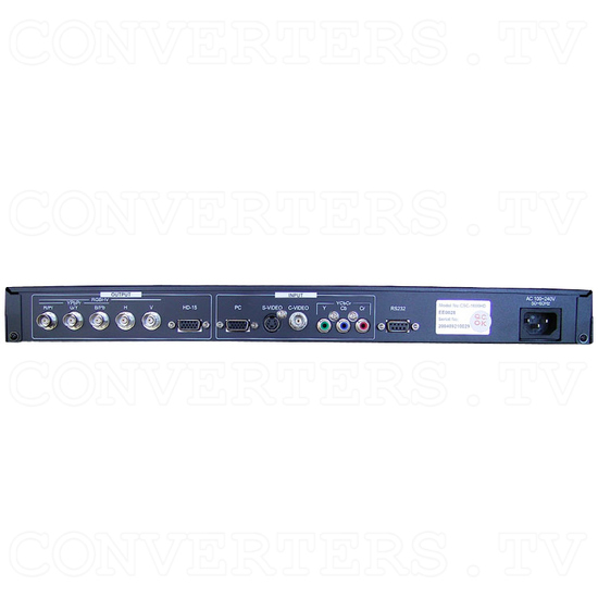Professional Video Scaler CSC - 1600HDAR - Back View